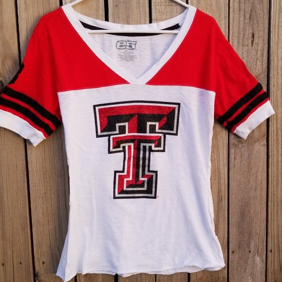 hot sale online 6ab30 b3a8b Texas Tech Red Raiders Vneck Fitted Jersey Tee